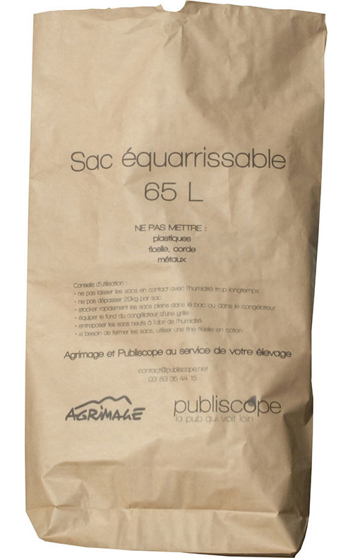sac équarrissage biodégradable en papier