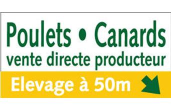 Plaque vente directe élevage